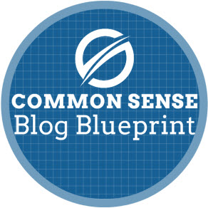 Common sense blog blueprint logo