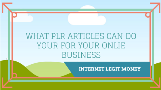 PLR Articles for your business