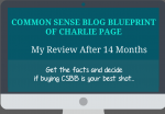 An no fluff review of common sense blog blueprint