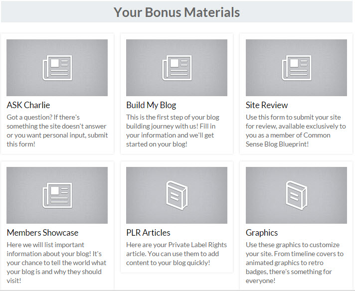 common sense blog blueprint bonus materials
