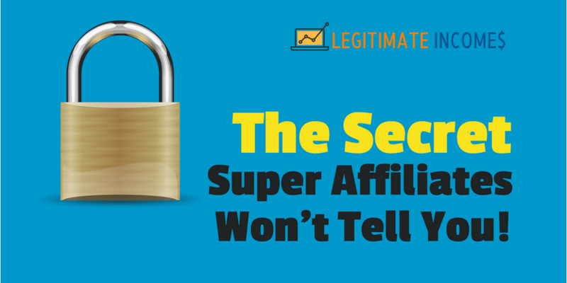 The secret to affiliate marketing success